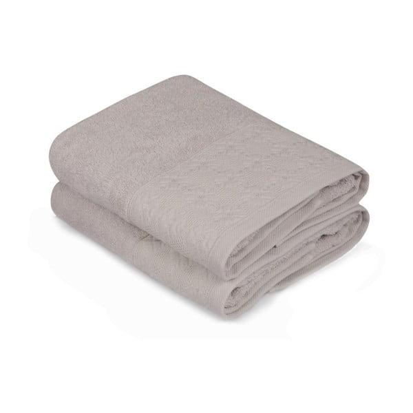 Sada dvoch béžových uterákov Provence, 90 × 50 cm