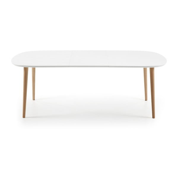 Bílý rozkládací jídelní stůl La Forma Oakland, 160-260cm