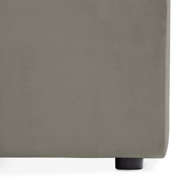 Šedý prostřední modul pohovky Vivonita Velvet Cube