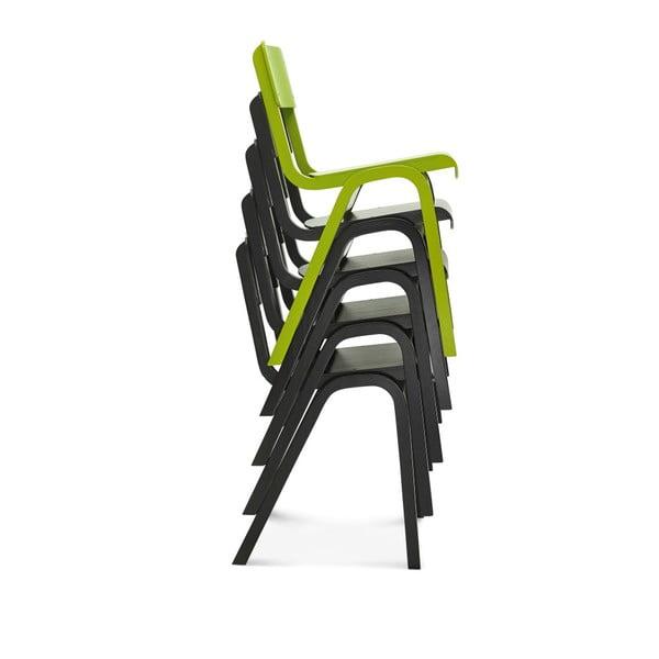 Zelená dřevěná židle Fameg Maren