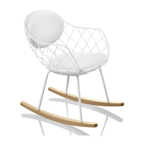 Białe bujane krzesło Magis Piña