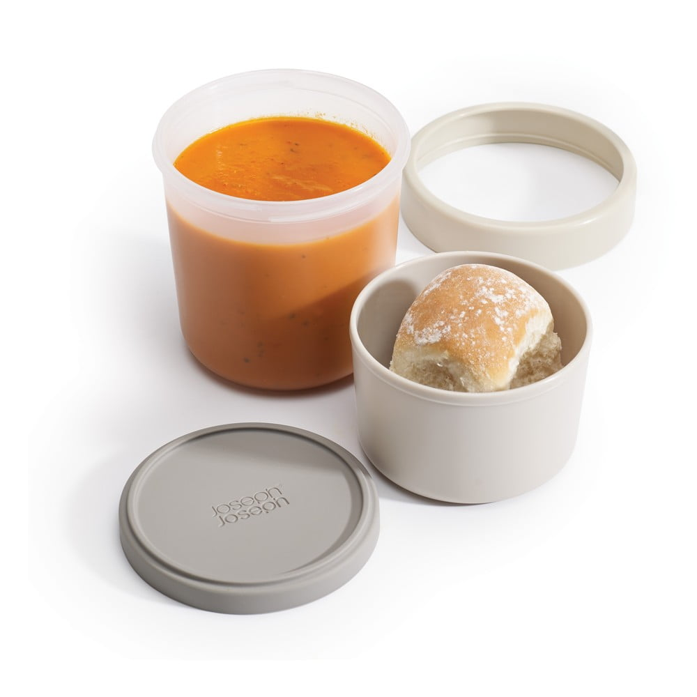 Šedá miska na polévku Joseph Joseph GoEat