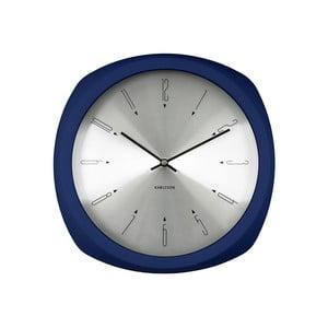 Modré hodiny Present Time Aesthetic Square