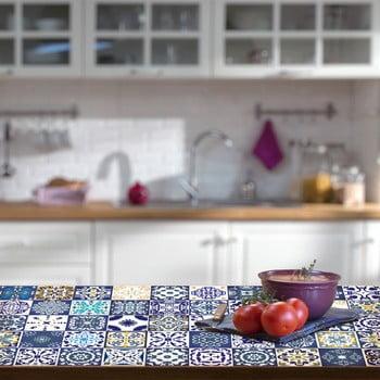 Set 30 autocolante de mobilier Ambiance Tiles Lubina, 20 x 20 cm de la Ambiance