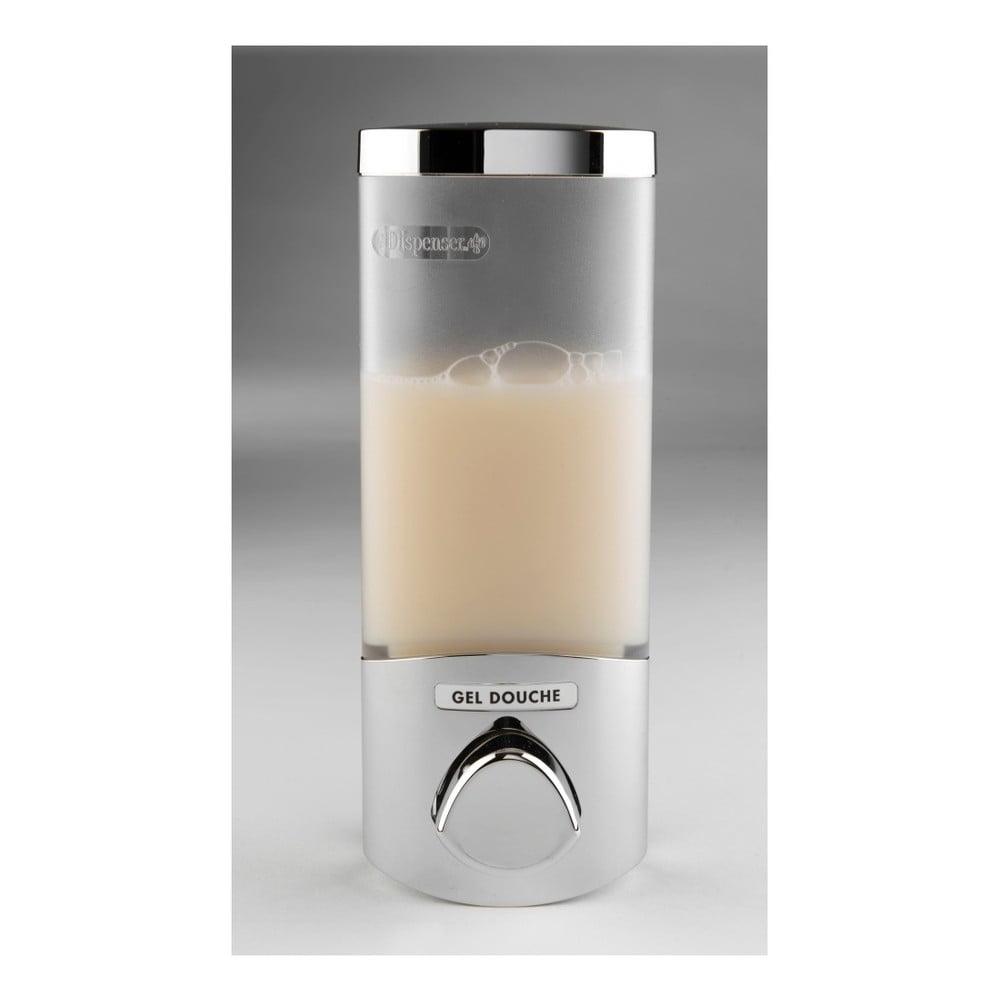 Stříbrný dávkovač na mýdlo Compactor Uno, objem 360ml