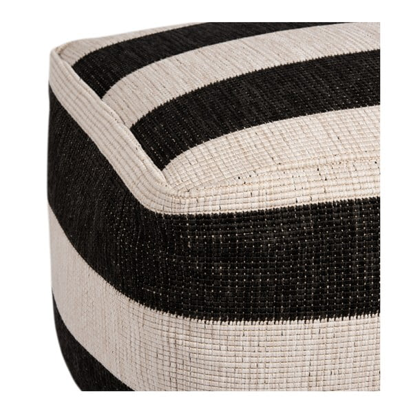 Černo-bílý puf vhodný i na ven Bougari Dazzo, 48 x 42 cm