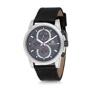 Pánské hodinky s černým koženým řemínkem Bigotti Milano Michaels