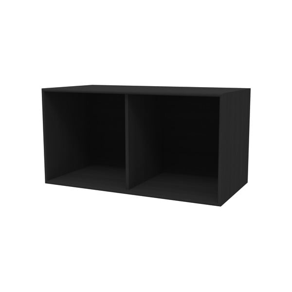 Černá nástěnná police WOOD AND VISION Choice, 76,8 x 39,7 x 38,4 cm