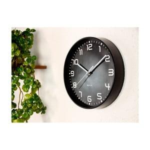 Černé nástěnné hodiny WALPLUS ChicTime, ⌀ 25 cm