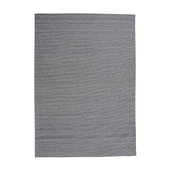 Vlněný koberec Casa Black/White, 160x230 cm