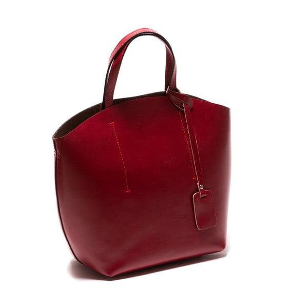 Červená kožená kabelka Sofia Cardoni Nora
