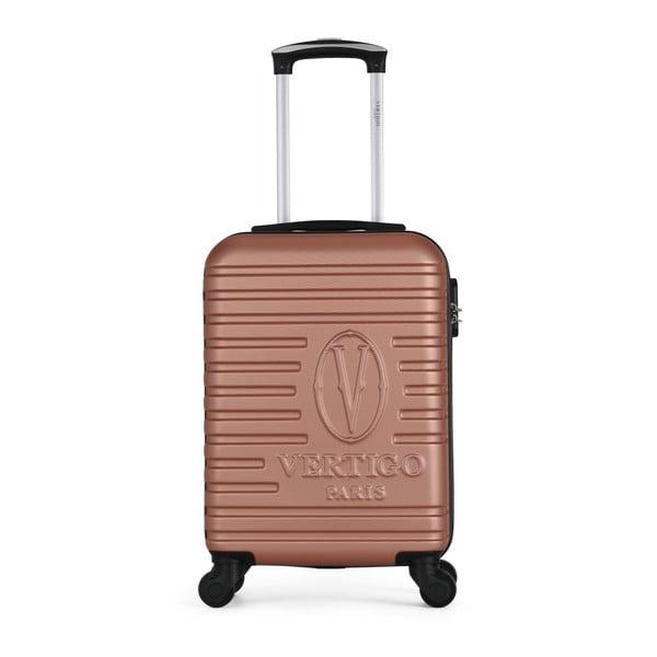 Růžový cestovní kufr na kolečkách VERTIGO Valises Cabine Cadenas