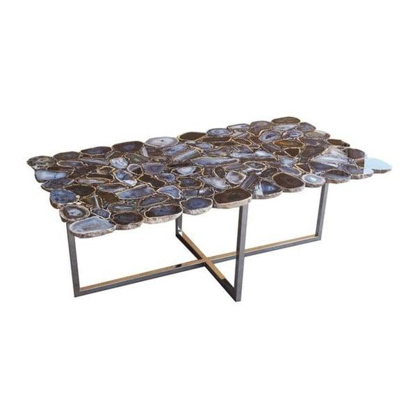 Konferenční stůl z nerezové oceli a kamenné desky Kare Design, 110 x 60 cm
