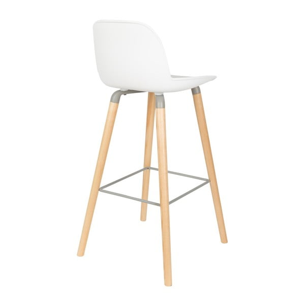 Set 2 scaune bar Zuiver Albert Kuip, înălțime scaun 75cm, alb