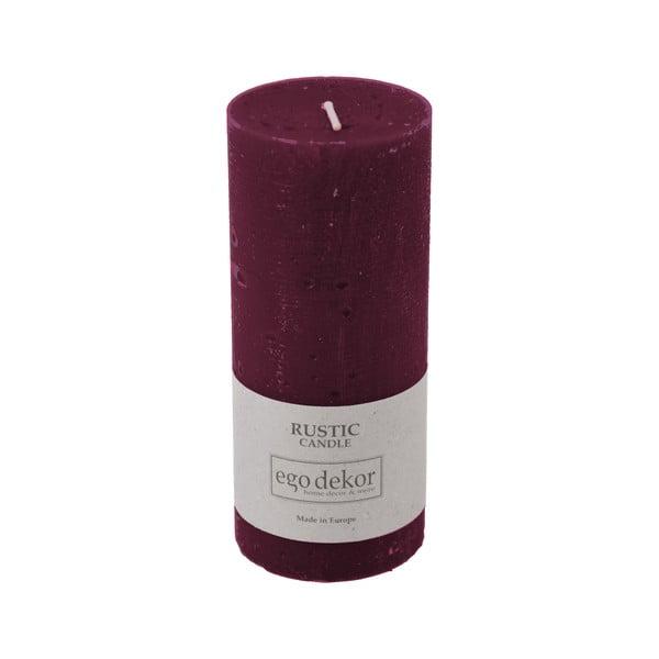 Vínově červená svíčka Baltic Candles Rustic, výška 14cm