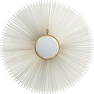 Nástěnné zrcadlo Kare Design Sunbeam,⌀90cm