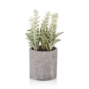 Bílá umělá levandule v betonovém květináči The Mia Provence