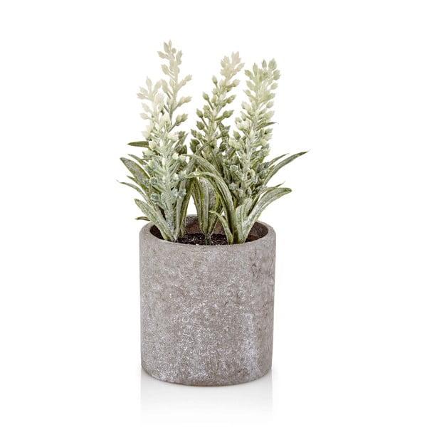 Floare artificială în ghiveci din beton The Mia Provence, alb