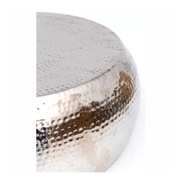 Konferenční stolek ve stříbrné barvě WOOX LIVING Kim, ⌀83cm