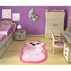 Dětský koberec Pretty Bear Pink, 80x127 cm
