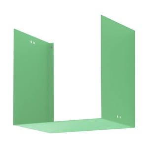 Nástěnná police Geometric One, zelená