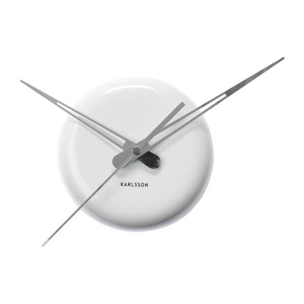 Bílé nástěnné hodiny Present Time Ceramic Dot