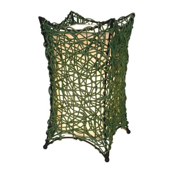 Zelená stolní lampa Naeve Korbchen
