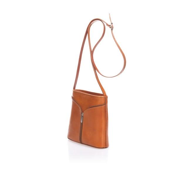Světle hnědá kožená kabelka Giulia Massari Calf Little