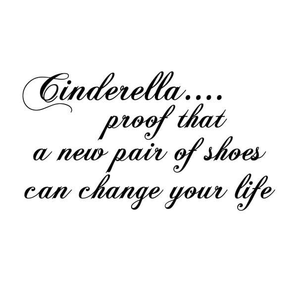 Dekorativní nástěnná samolepka Cinderella