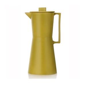 Porcelánová váza ve tvaru moka konvičky Terra Yellow