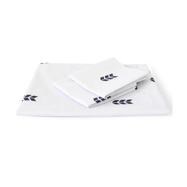 Bílé povlečení Hawke&Thorn Finch Straw,240x220cm +polštář 50x60cm