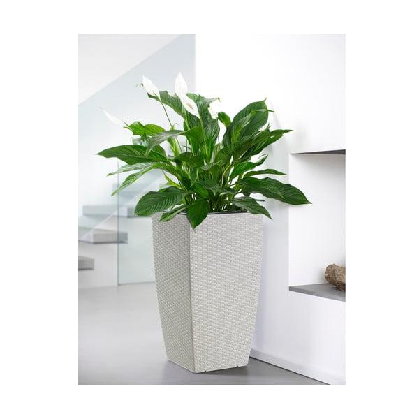 Vysoce odolný květináč Casa Mesh 57x30 cm, bílý