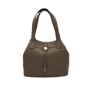 Tmavě šedobéžová kabelka z pravé kůže Andrea Cardone Matteo