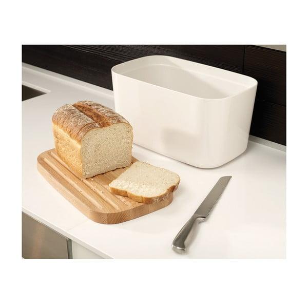 Cutie pentru pâine cu tocător Joseph Joseph Bred Bin, albă