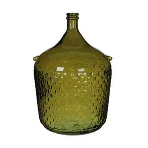 Zelená skleněná váza Mica Diego, 56x40cm