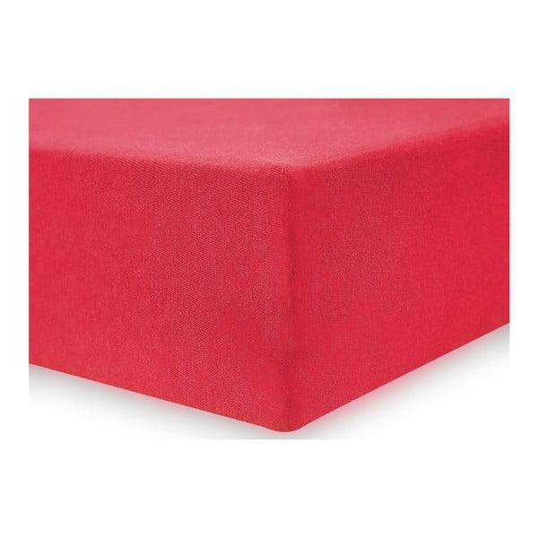 Červené elastické prostěradlo DecoKing Nephrite Red, 140–160 cm