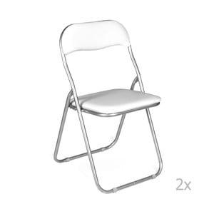 Sada 2 bílých skládacích židlí Evergreen House Viola