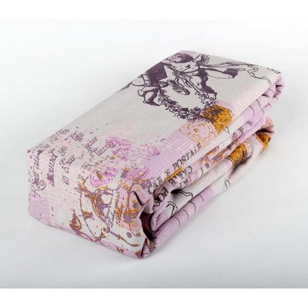 Fialový přehoz přes postel Love Colors Helen, 200 x 240 cm