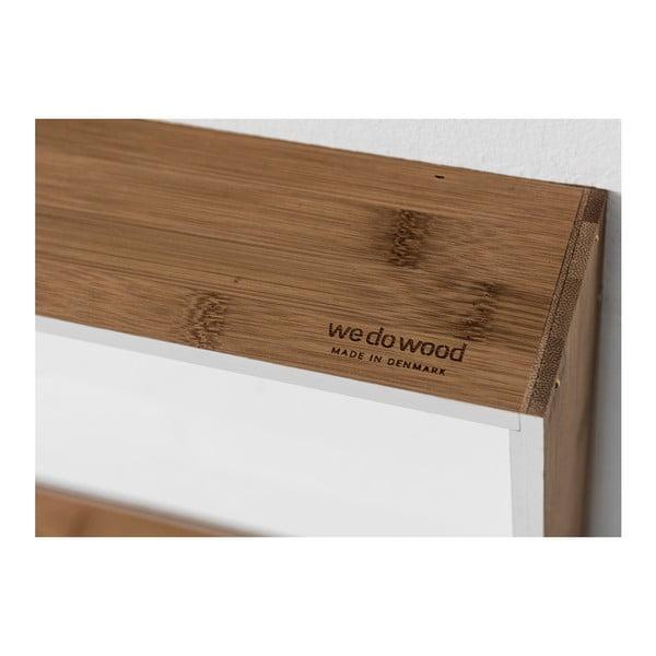 Nástěnná police z bambusu Moso We Do Wood Fivesquare