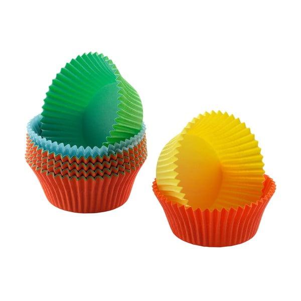 Zestaw 200 kolorowych papierowych papilotek na mini muffiny Kaiser