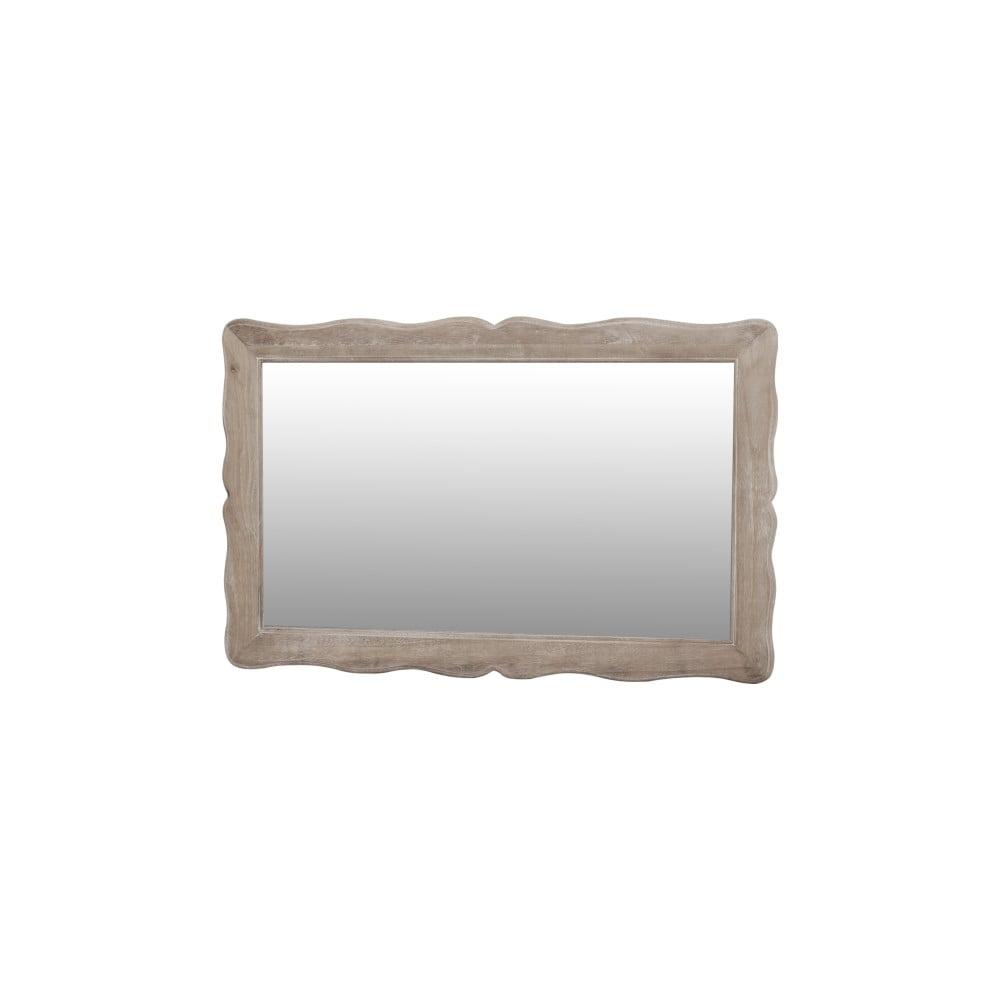 Zrcadlo v krémovém rámu z topolového dřeva Livin Hill Pesaro, výška60cm