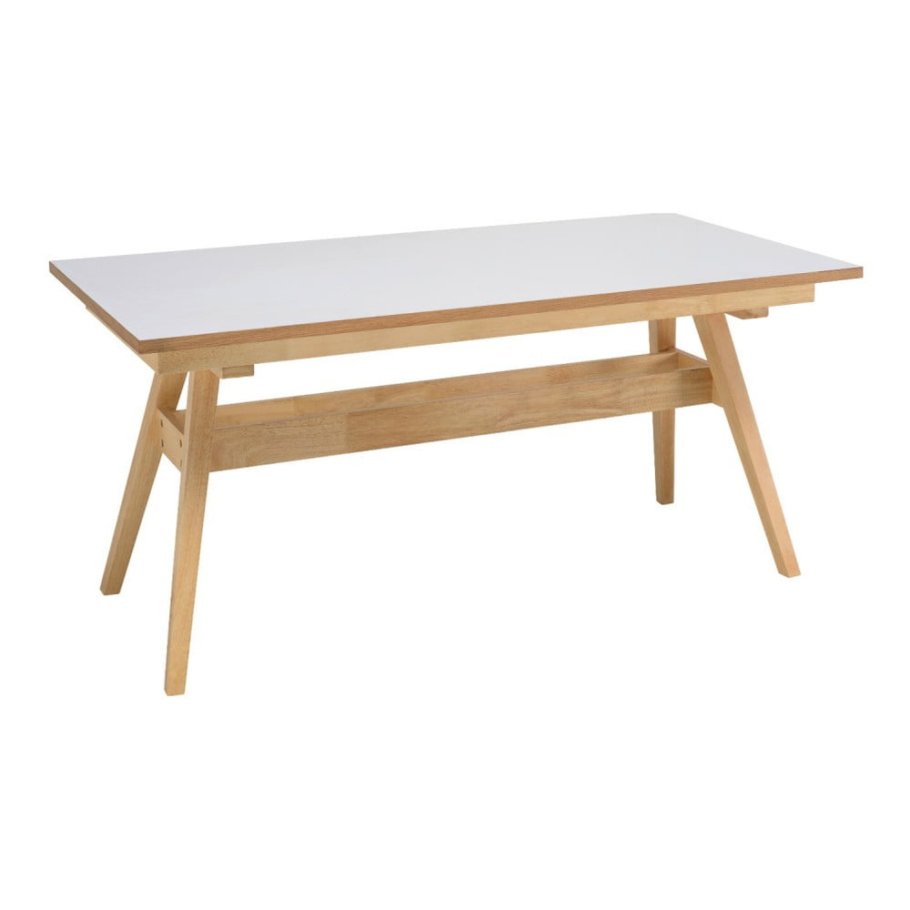 Bílý jídelní stůl s nohami z dubového dřeva sømcasa Abbie, 150x90cm
