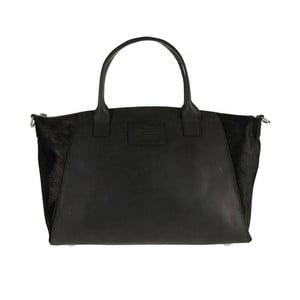 Kožená kabelka Fly Violet midi, černá/hairon