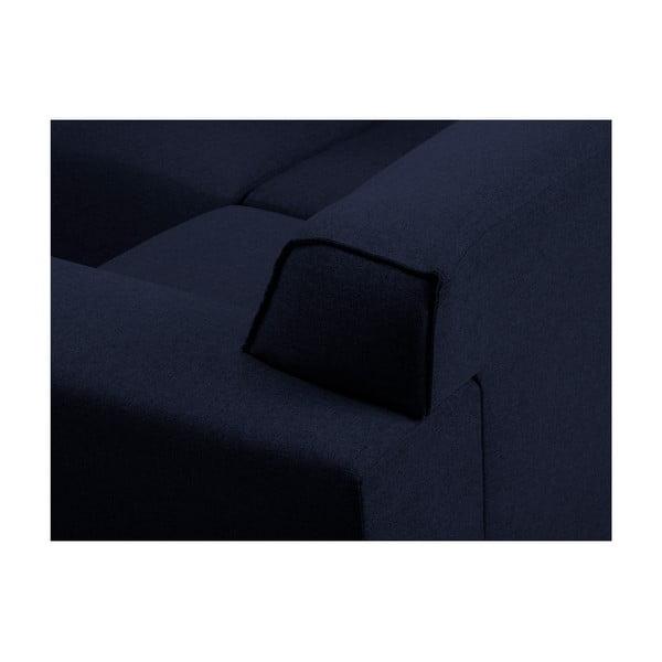Modrá rohová čtyřmístná pohovka Cosmopolitan Design Seville, pravý roh