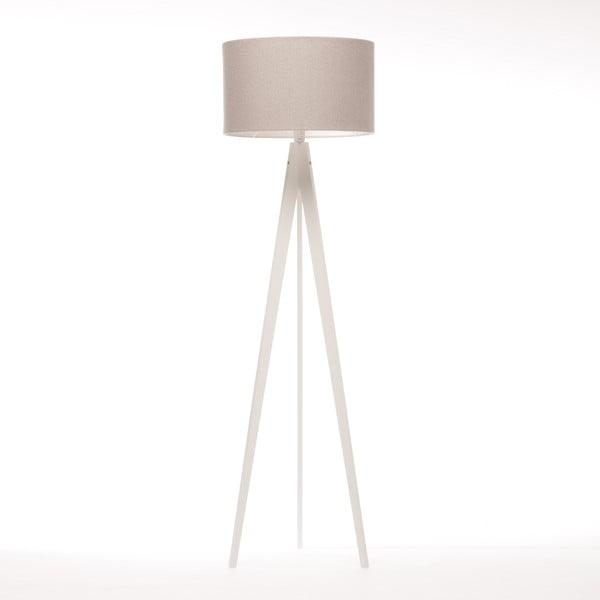 Stojací lampa Artist Brown Grey Felt/White, 125x42 cm