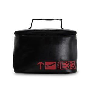 Černo-červená cestovní kosmetická taška POTIRON Paris