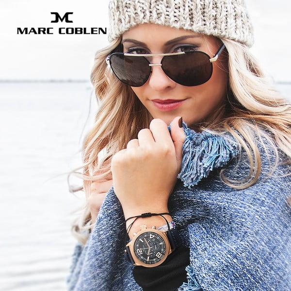 Unisex hodinky Marc Coblen s páskem a kroužkem navíc P81