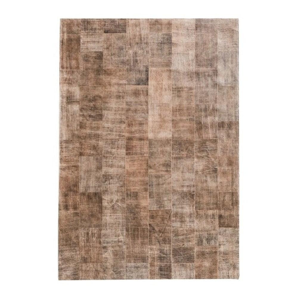 Světle hnědý koberec z pravé kůže Fuhrhome Ankara, 120 x 180 cm