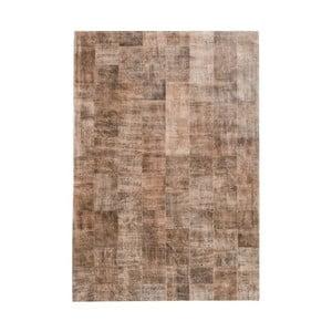 Světle hnědý koberec z pravé kůže Fuhrhome Ankara, 170x240cm