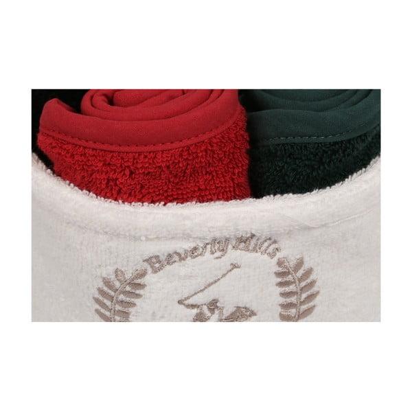 Sada 4 ručníků na ruce v látkovém košíčku Polo Club Gilda